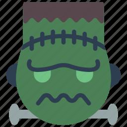 emojis, emotion, frankenstein, haloween, monster, scary icon