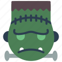 emojis, frankenstein, grumpy, haloween, monster, spoky icon