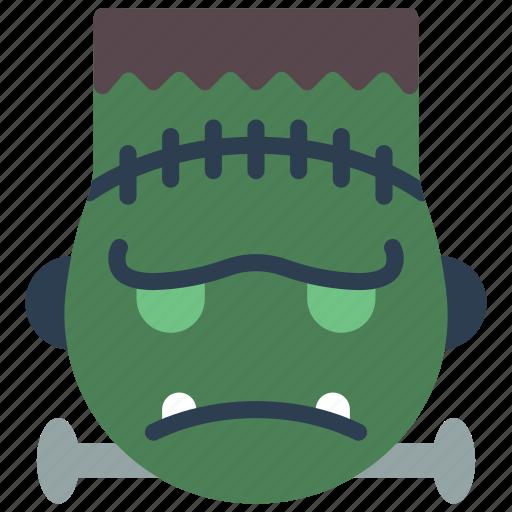 emojis, frankenstein, grumpy, haloween, monster, spoky icon