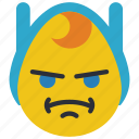 adventure, angry, emojis, emotion, finn, smiley, time icon