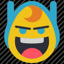 adventure, crazy, emojis, emotion, finn, smiley, time icon