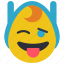 adventure, emojis, emotion, finn, time, tongue, wink icon