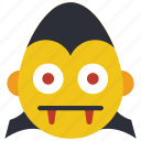 count, dracula, emojis, emotion, hammer, smiley, spooky icon