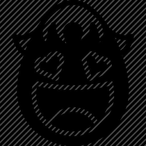 boy, emojis, emotion, face, happy, love, smiley icon