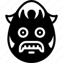 boy, emojis, emotion, face, grumpy, mustache, sideburns icon