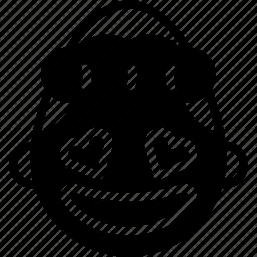 emojis, emotion, face, girl, happy, love, smiley icon