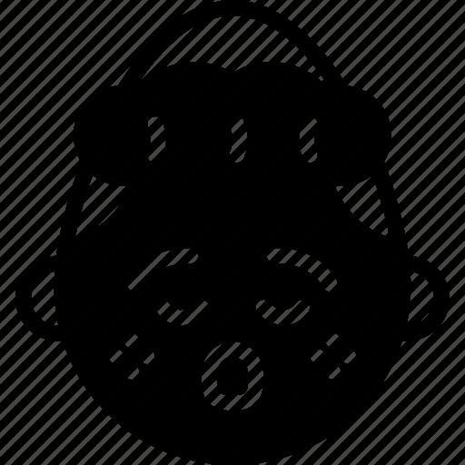 emojis, emotion, face, girl, shocked, smiley icon