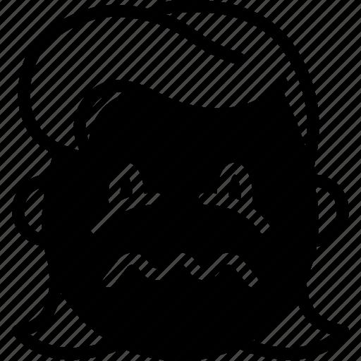 emojis, emotion, face, girl, sick, smiley icon