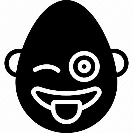 bold, emojis, emotion, face, man, smiley, tongue icon