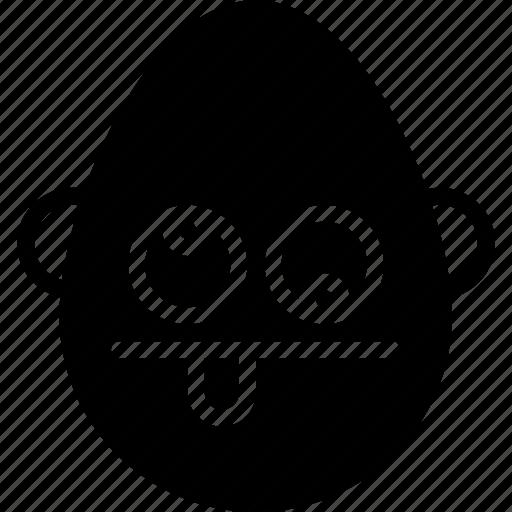 bold, crazy, emojis, emotion, face, man, smiley icon