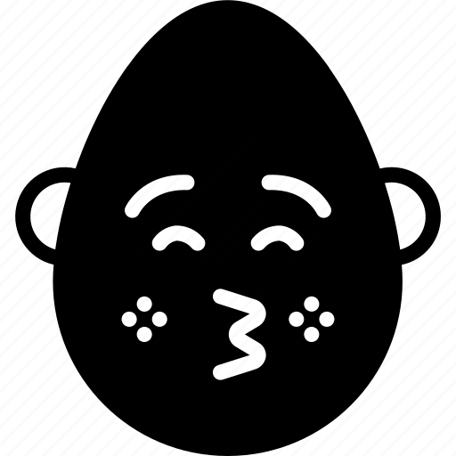 bold, emojis, emotion, face, kiss, man, smiley icon