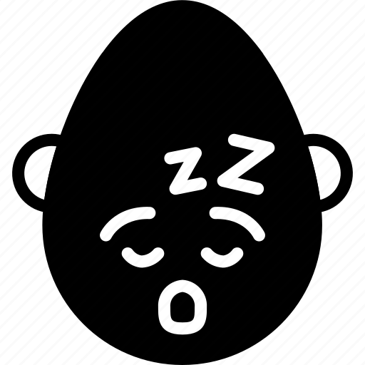 bold, emojis, emotion, face, man, sleep, smiley icon