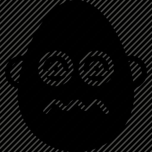 bold, emojis, emotion, face, man, sick, smiley icon