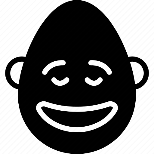 bold, emojis, emotion, face, happy, man, smiley icon