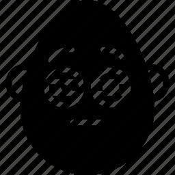 emojis, emotion, face, man, smiley, squint icon