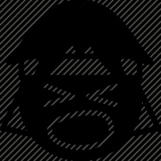 emojis, emotion, face, rock, scream, smiley icon