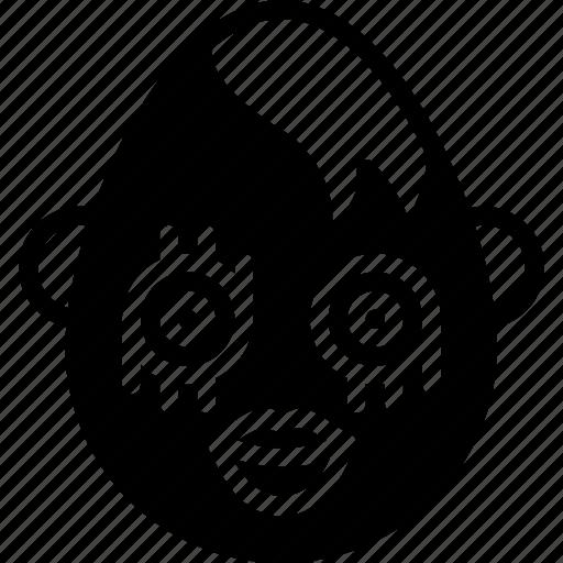 emojis, emotion, face, goth, happy, smiley icon