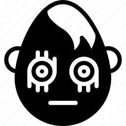 emojis, emotion, face, goth, smiley, straight icon