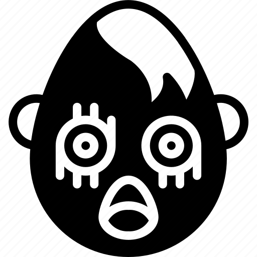 emojis, emotion, face, goth, shock, smiley icon
