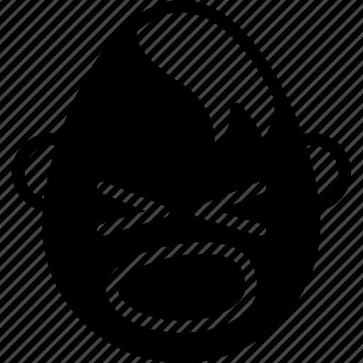 emojis, emotion, face, goth, scream, shouting, smiley icon