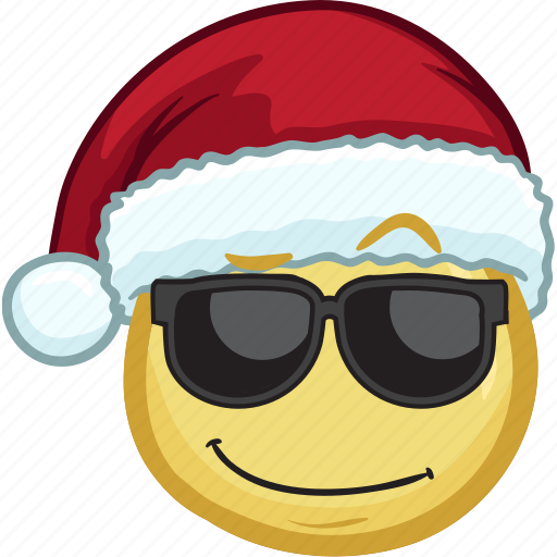 Christmas Emojis.Emojis With Santa Hats By Vector Toons