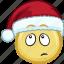 cartoon, christmas, emoji, hat, holiday, santa icon