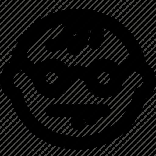 emoji, emoticon, face, geek icon