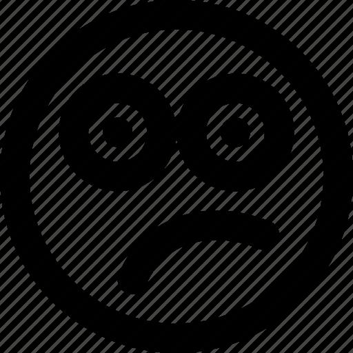 doutbtful, emoji, emoticon, face icon