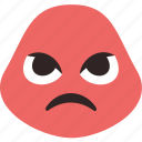 angry, dissapointed, insulted, mad icon