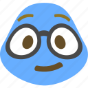 emoji, emoticon, geek, nerd icon