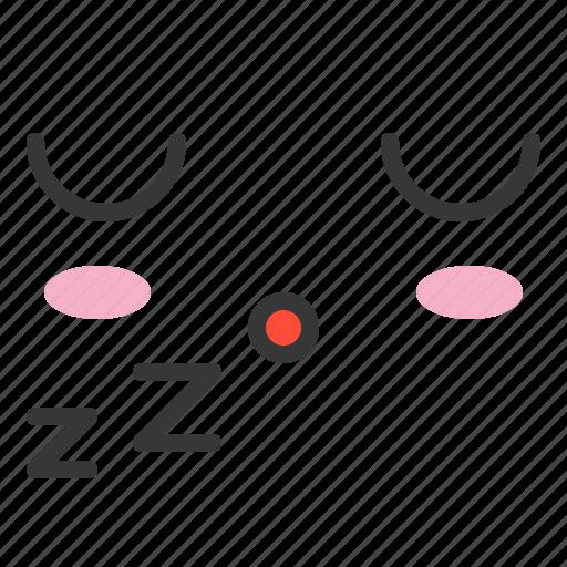 emoji, emoticon, emotion, expression, face, sleep icon