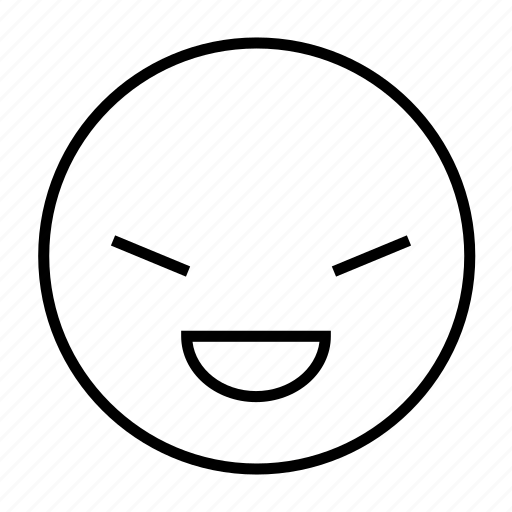 Beat, cheat, emoticon, over, roundedwhite, tricky icon - Download on Iconfinder