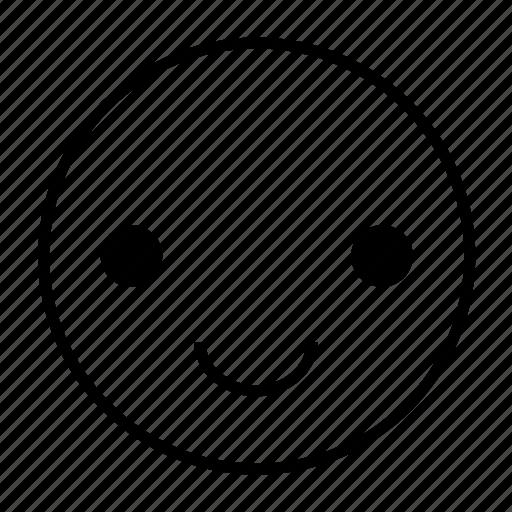 cheerful, emoticon, feel good, feelgood, happy, roundedwhite, smile icon