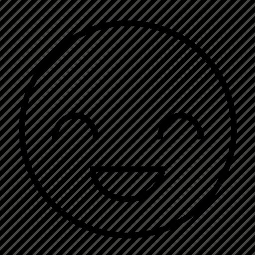 delighted, emoticon, happy, joyful, pleased, roundedwhite icon