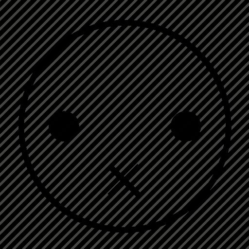 emoticon, mute, roundedwhite, secret, silent, speechless icon