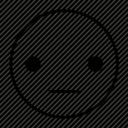 emoticon, normal, quitely, roundedwhite, speechless, still icon