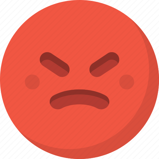 angry, emoticon, emotion, expression, face, smiley icon