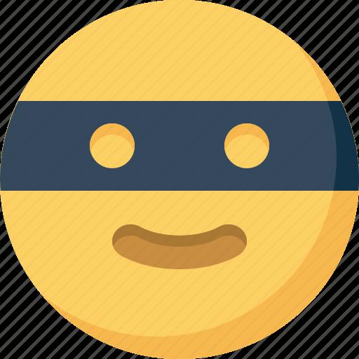 bandit, emoticon, emotion, expression, face, smiley icon