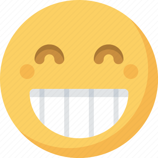 big, emoticon, emotion, expression, face, grin, smiley icon