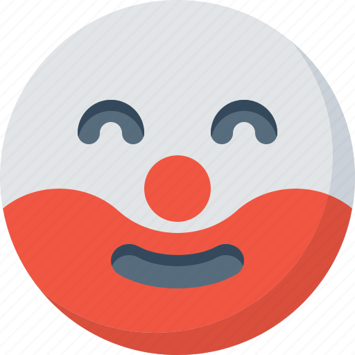 clown, emoticon, emotion, expression, face, smile, smiley icon