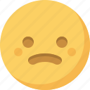 confused, emoticon, emotion, expression, face, sad, smiley icon