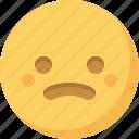 confused, emoticon, emotion, expression, face, sad, smiley