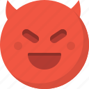 devil, emoticon, emotion, evil, expression, face, smiley icon