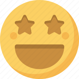 emoticon, emotion, expression, face, famous, smiley, star icon