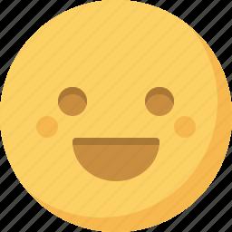 emoticon, emotion, expression, face, happy, smiley icon