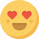 emoticon, emotion, expression, face, in love, love, smiley icon