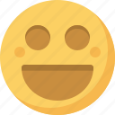 emoticon, emotion, expression, face, happy, laughing, smiley