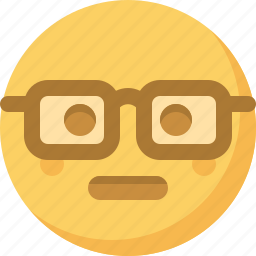 emoticon, emotion, expression, face, nerdy, smart, smiley icon