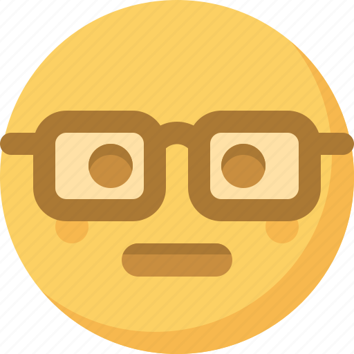 emoticon, emotion, expression, face, nerdy, smart, smiley icon