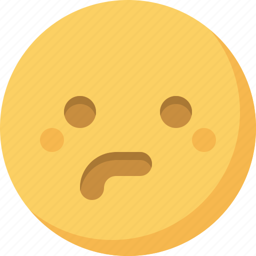 emoticon, emotion, expression, face, puzzled, smiley icon